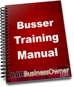 busser training manual - Table Busser Job Description