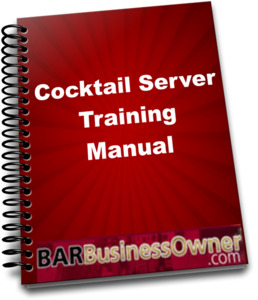 Customizable cocktail server training manual