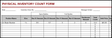 bar physical inventory form